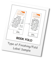 Type of Finishing/Fold Label Sample