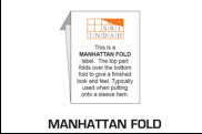 Illustration of Label with Manhattan Fold