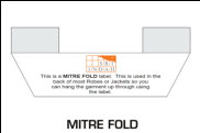Illustration of Label with Mitre Fold