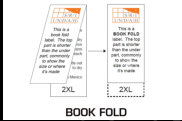 Illustration of Label with Book Fold (Center Fold)