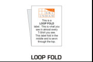 Illustration of Label with Loop Fold